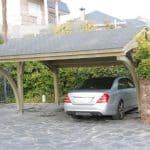 drewniane wiaty garażowe